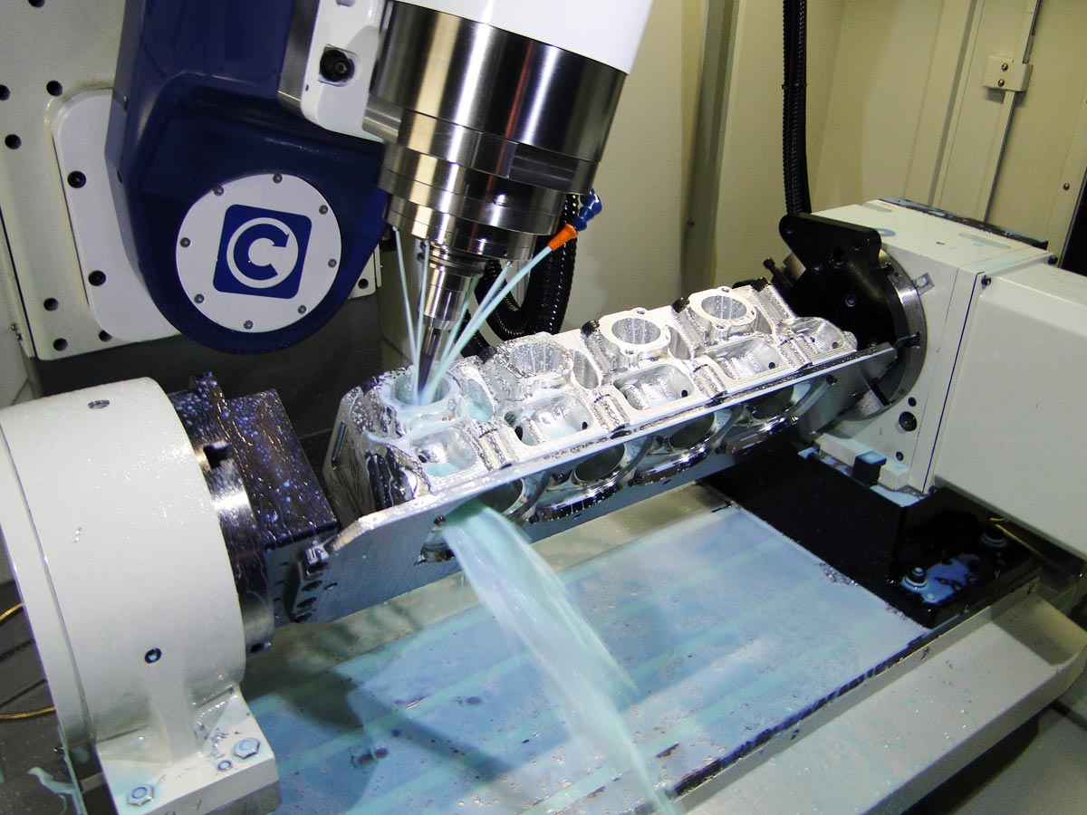 5 Axis Cnc Cylinder Head Porting Tilt Table Is A Patented Design