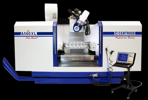5 axis cnc cylinder head porting machine