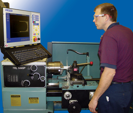 cnc control for flat bed lathes