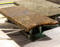 Granite can be machined to any shape.