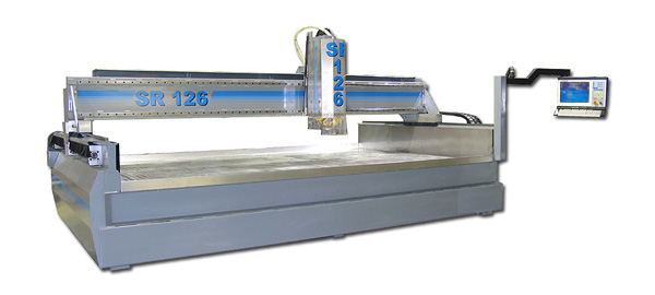 CNC automotion CNC granite router, made in the USA.