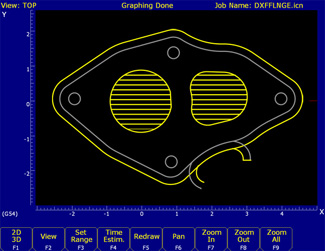 DXF CAD file import.  Create tool paths from CAD drawings.