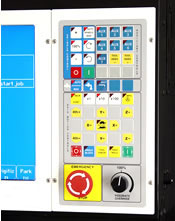 M-400 CNC operators control panel.  Intuitive design with useful tools for the CNC operator.