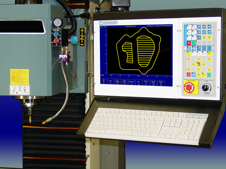 CAD CAM systems generate G code machine tool path for the CENTROID