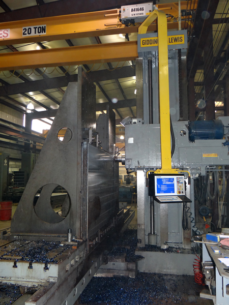 Giddings and Lewis Horizontal Boring Mill CNC retrofit