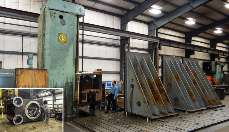 G&L Floot Type Horizontal CNC Boring Mill retrofit