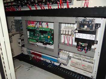 Centroid MPU11 and GPIO4D CNC control installed in Blanchard Electrical cabinet