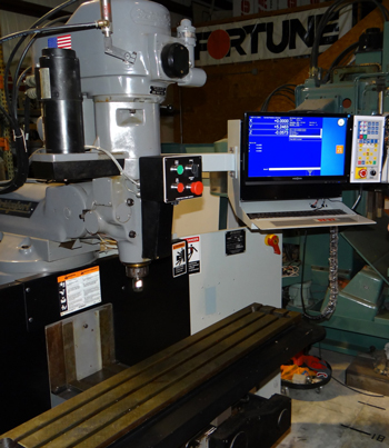 DX-32 upgraded CNC operators console and Z axis servo motor